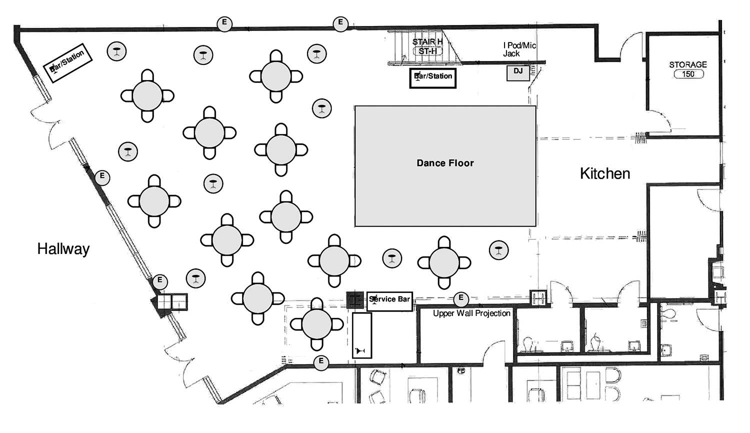 Sample Event Layout - Receptions