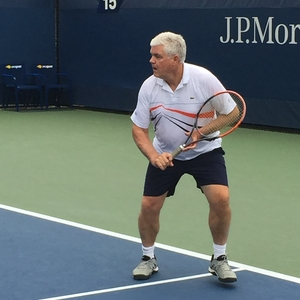 Chelsea Piers Tennis head professional Chris Mayotte played in the annual US Open Pro Am.